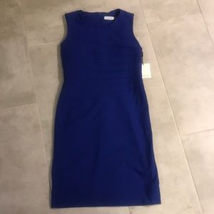 Calvin Klein blue work dress